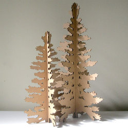 Eco Laser-Cut Cardboard Christmas Tree by Seequin
