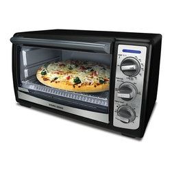Black & Decker - Black & Decker TRO4075B Convection Toaster Oven - This Black & Decker convection toaster oven can be used to toast,bake,broil,and keep foods warm until they are ready to be served. This energy efficient toaster oven can fit a medium-sized pizza or up to four slices of bread.