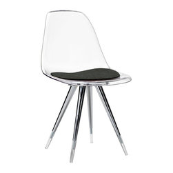 Kubikoff - Angel Side Chair, Light Blue, Dark Grey - Angel Side Chair