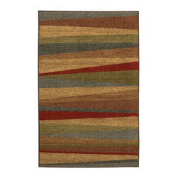 "Mohawk - Contemporary Mayan Sunset Hallway Runner 2'0""x8' Runner Tan-Beige Area Rug - The Mayan Sunset area rug Collection offers an affordable assortment of Contemporary stylings. Mayan Sunset features a blend of natural Tan-Beige color. Machine Made of Nylon the Mayan Sunset Collection is an intriguing compliment to any decor."