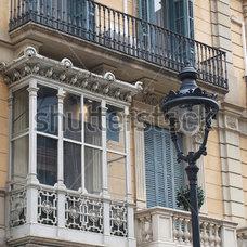 Enclosed Balcony, Barcelona Center, Spain. Stock Photo 101027791 : Shutterstock