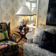 Eclectic Living Room by Cynthia Taylor-Luce
