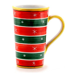 Artistica - Hand Made in Italy - Christmas: Tall Mug 16 Oz. - Christmas Ornament