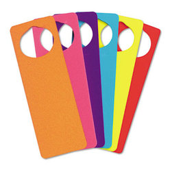 Chenille Kraft Company - Wonderfoam Door Knob Hangers, Six Assorted Colors - Six 3 1/4 x 9 1/2 door knob hangers are ready to decorate and display. The kids will enjoy using them as much as they did decorating them! Age Recommendation: N/A; Art Kits Special Features: N/A; HUB Compliance: N/A; Compliance, Standards: N/A.