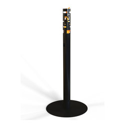 Decorpro - Skyline Bio Ethanol Outdoor Fireburner In Black - Skyline outdoor garden torch Fireburner is a perfect accent for any garden or patio. Its architectural feel is unique and looks amazing when lit. Optional accessories are available for you to enjoy these torches on the deck or the cement patio. Use the Sunjel one time use fuel canister to create the wonderful smoke free flame. This product includes a snuffer. Fuel sold separately.  This Fireburner is made of steel and is painted in a durable epoxy powdered paint. Durable for any climate.