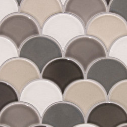 Mosaic Ideas for any space - MO-FNSA Small Fan Pattern A, Netted W78, C54, C306, R337, R346