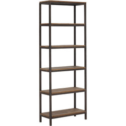 Zuo Modern - Zuo Modern Mission Bay Distressed 6 Level Shelf - Shelve It. Stylish storage? Now that's our idea of good industry. The Zuo Modern Mission Bay Distressed 6-Level Shelf is the perfect place to store books, art and momentos. Crafted from iron and hardwood and distressed to reflect an industrial vibe, this shelving unit adds subtle sophistication to any room in the home.Crafted from hardwood and ironShips in one week