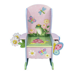 "Teamson Kids - Magic Garden Wooden Potty Chair - Make training time a fun thing to do, with our lovely Magic Garden potty chair! Crafted with the finest carvings, and vibrant hand painted garden design, this wooden potty will draw your child's attention and let their imagination soar. Made by the Teamson Company, with exceptional quality and flair, this potty chair makes it every child's dream... Our attractive chair includes a toilet paper and magazine holder, just to make it a bit more handy. Dimensions: 21 1/4"" x 22"" x 26"" Note: Some assembly may be required."