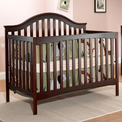 Sorelle - Sorelle Lynn 4-in-1 Convertible Crib with Toddler Rail - Merlot - 425-M - Shop for Cribs from Hayneedle.com! The Sorelle Lynn 4-in-1 Convertible Crib with Toddler Rail - Merlot is a gorgeous crib designed to convert to a toddler bed (rails included) to a daybed and finally to a full-sized bed for your teenager (conversion rails not included). Beautifully crafted with a timeless and non-toxic merlot finish this 4-in-1 crib features recessed hardware for your child's protection and exceeds all U.S. Consumer Product Safety Commission Standards. The crib has three different height positions so you can easily move the mattress down as your child begins to sit and stand on their own. The rails to convert this bed into an adult bed are sold separately. Additional Features Includes a toddler rail for your convenience Rails for daybed and full-size bed conversion sold separately Non-drop side crib Some assembly is required About Sorelle FurnitureSorelle Furniture is a family-owned and -operated business that has been bringing the world to your nursery with quality products for over 25 years. Sorelle is a division of C & T International founded in 1977. They offer a complete line of furniture for infants toddlers children and young adults. Imported from all over the world Sorelle furniture showcases both classic and modern designs crafted from solid wood and veneers. Rich finishes highlight the natural beauty of their wood products and provide a matching appearance for all your baby's furnishings. Built with your child's safety in mind.
