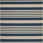 """Safavieh - Safavieh Courtyard CY6062-268 6'7"""" x 9'6"""" Navy Rug - Safavieh's Courtyard collection was created for today's indoor/outdoor lifestyle. These beautiful but practical rugs take outdoor decorating to the next level with new designs in fashion-forward colors and patterns from classic to contemporary. Made in Turkey with enhanced polypropylene for extra durability, Courtyard rugs are pre-coordinated to work together in related spaces inside or outside the home."""