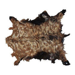 Pre-owned Vintage Moroccan Goatskin - Get your rustic chic on with this vintage Moroccan goatskin. This incredible organic goat hair and leather is sure to enhance any kind of decor!