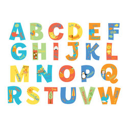 FunToSee - A is For Alphabet Wall Decals - Brightly colored alphabet wall letter stickers each contain their own character to help make learning the alphabet fun. Create an educational wall or alphabet border, or decorate your nursery walls and furniture with wall stickers manufactured by FunToSee, the award-winning wall sticker company. Alphabet wall stickers measure 9cm tall and are very easy to apply, repositionable and cleanly removable. The pack contains 26 uppercase letters. Instantly transform walls and create magical spaces for babies and young children to grow, play and learn. Suitable for little boys and girls bedrooms, playrooms, or create a reading corner FunToSee ABC nursery wall stickers are high quality, splash-proof wall stickers and an affordable way to be creative without the need to be arty, or if you are short of time. FunToSee was founded in 2001 by a mum looking for something imaginative and yet simple to use to decorate her first child's nursery. Over a decade later FunToSee have become a trusted and recognized nursery wall sticker brand all over the world. Proudly made in the UK too.