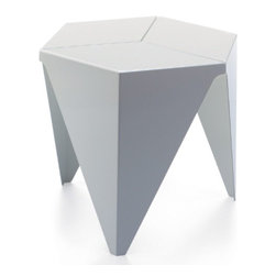 "Vitra - Vitra Prismatic Table, White - Isamu Noguchi's three-legged ""Prismatic Table"" is based on purely geometric forms. The hexagonal table top is made of folded sheet aluminum and was inspired by traditional Japanese paper folding techniques."