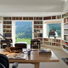 Modern Home Office Luxury Home Libraries
