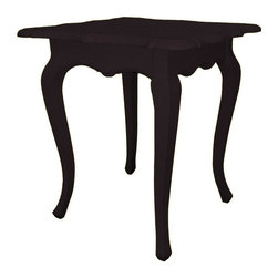 EuroLux Home - New Accent Table Walnut Painted Hardwood - Product Details