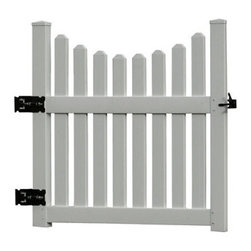 Grandin Road - Large Cottage Gate - Polyvinyl construction will not fade or deteriorate in the elements. Never needs a fresh coat of paint. Spray clean with a garden hose. Complete the look with optional wings and gate. The natural flat-top pergola design of our Fairfield Grande Arbor provides the perfect compliment to any pathway or garden. A larger version of the popular Fairfield style, this garden arbor will stretch over wider pathways with the same complimentary style. Our state-of-the-art garden decor is more durable than wood varieties as its classic white frame will stand up to the abuse of the outdoors.. . . . Assembly required.