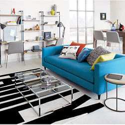 Movie Pool Sofa - Add a splash of aqua to brighten even the darkest living room with this cheerful, modern sofa from CB2.