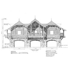 Rustic Exterior Elevation by AJArchitects.com llc