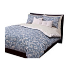 SIS Covers - SIS Covers Monaco Duvet Set - 6 Piece Full Duvet Set - 5 Piece Twin Duvet Set Duvet 67x88, 1 Std Sham 26x20, 1 16x16 dec pillow, 1 26x14 dec pillow. 6 Piece Full Duvet Set Duvet 86x88, 2 Std Shams 26x20, 1 16x16 dec pillow, 1 26x14 dec pillow. 6 Piece Queen Duvet Set Duvet 94x98, 2 Qn Shams 30x20, 1 16x16 dec pillow, 1 26x14 dec pillow. 6 Piece California King Duvet Set Duvet 104x100, 2 King Shams 36x20, 1 16x16 dec pillow, 1 26x14 dec pillow6 Piece King Duvet Set Duvet 104x98, 2 Kg Shams 36x20, 1 16x16 dec pillow, 1 26x14 dec pillow. Fabric Content 1 100 Cotton. Guarantee Workmanship and materials for the life of the product. SIScovers cannot be responsible for normal fabric wear, sun damage, or damage caused by misuse. Care instructions Machine Wash. Features Reversible Duvet and Shams.