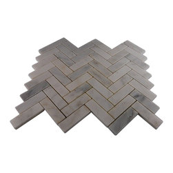 """GlassTileStore - Asian Statuary Herringbone 1x3 Marble Tile - Asian Statuary Herringbone Marble Tile             This marble mosaic will provide endless design possibilities from contemporary to classic. It creates a great focal point to suit a variety of settings.         Chip Size: 1""""x 3""""   Color: Asian Statuary   Material: Marble   Finish: Polished   Sold by the Sheet - each sheet measures 12"""" x 12"""" (1 sq. ft.)   Thickness: 8mm   Please note each lot will vary from the next.            - Glass Tile -"""