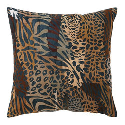 Leather Pillow with Spotted Pattern - Enhance your comfort levels while you lay your head on this exquisite quality real leather pillow that offers a plush and luxurious feel. You can use it on your couch and make your living room shine with a distinct appeal or add it to bedroom settings for a more inviting appeal for a more comfortable feel. This pillow is stuffed with fine quality cotton to make sure that you get the best cozy feeling while you sleep in your bed. This genuine pillow is designed with authentic animal leather that features life like skin patterns to give it a more exclusive appeal. It is crafted from leopard leather that still retains the spotted pattern found on leopard skin in perfect form and color, making it an ideal choice of decorative accessory for your home.. It comes with a dimension: