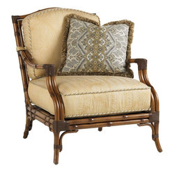 Lexington - Tommy Bahama Island Estate Veranda Lounge Chair - The cushion set includes one 18x18 inch throw pillow which can be contrasted in fabric grades A-E plus decorative trim, cord or fringe, may be added at no additional charge as part of our Final Touches no charge options. See store for details.