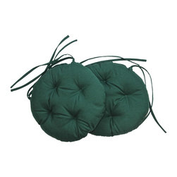 US Bedding - Hunter Green Diamond Tufted Bistro Cushion (Set of 2) - All cushions are designed to fit most sizes of patio furniture and are filled with eco-friendly quick drying polyester fiber fill. Proudly Manufactured in the USA.