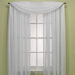 Kensington Home Fashions - Crushed Voile Sheer Rod Pocket Window Curtain Panel - These versatile window curtain panels are perfect for any room and decor. The crushed voile panel adds interest to your windows and can be hung by itself or under additional panels for a layered effect.