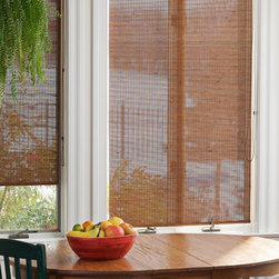 Bamboo Roller Shades in Island Natural - Bamboo roller shades provides a classic roller shade function along with a natural material appearance. These eco-friendly shades allow soft light into your home while providing daytime privacy (not private at night).