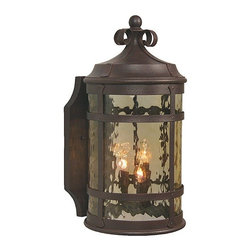 Craftmade - Iron Espaa 2 Light Outdoor Wall Sconce - Craftmade Z5014-91 2 Light Espana Medium Outdoor Sconce This Craftmade product is available in a rustic iron finish. Features champagne glass. Illuminated
