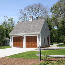 Traditional Garage And Shed by GMT Home Designs Inc.