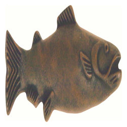 Atlas Homewares - Atlas Homewares 2217-R Fish 4-Inch Salmon Door Knob, Rust - Atlas Homewares 2217-R Fish 4-Inch Salmon Door Knob, Rust
