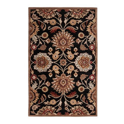 Surya - Surya Caesar CAE-1053 (Jet Black, Ivory) 4' Round Rug - Surya's best selling creations have been infused with possibilities as the Caesar collection takes on new life. Designer color combinations including deep browns, charcoal gray, and muted red make these time-honored pieces suitable for any interior. Hand tufted in India of 100% wool, each rug is available in over 20 sizes, and in a variety of styles such as round, square, oval and mansion-sized.