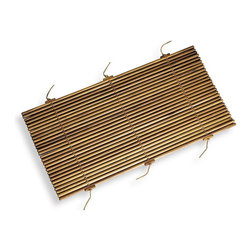 WS Bath Collections - Tapie Shower Mat - WS Bath Collections Tapie 7210 Shower Mat, Bathroom Shower Mat In Teak Wood With Leather Laces, Made in Italy