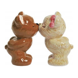 "Westland - 3.5"" Teddy Bears Share a Kiss with Eyes Closed Salt and Pepper Shakers - This gorgeous 3.5"" Teddy Bears Share a Kiss with Eyes Closed Salt and Pepper Shakers has the finest details and highest quality you will find anywhere! 3.5"" Teddy Bears Share a Kiss with Eyes Closed Salt and Pepper Shakers is truly remarkable."
