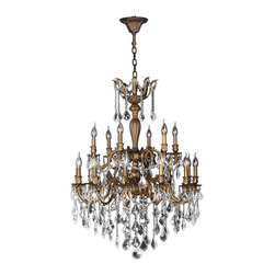 "Worldwide Lighting - Versailles 18 Light Antique Bronze Finish & Crystal Chandelier 30"" D Two 2 Tier - This stunning 18-light Chandelier only uses the best quality material and workmanship ensuring a beautiful heirloom quality piece. Featuring a cast aluminum base in Antique Bronze finish and all over clear crystal embellishments made of finely cut premium grade 30% full lead crystal, this chandelier will give any room sparkle and glamour. Worldwide Lighting Corporation is a privately owned manufacturer of high quality crystal chandeliers, pendants, surface mounts, sconces and custom decorative lighting products for the residential, hospitality and commercial building markets. Our high quality crystals meet all standards of perfection, possessing lead oxide of 30% that is above industry standards and can be seen in prestigious homes, hotels, restaurants, casinos, and churches across the country. Our mission is to enhance your lighting needs with exceptional quality fixtures at a reasonable price."