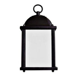 Yosemite Home Decor - Outdoor Lighting. Tara Collection Wall mount 1-Light Outdoor Lamp - Shop for Lighting & Fans at The Home Depot. Tara by Yosemite Home Decor has a square box shape, adding a bit of modern influence, yet the frame is much more traditional. The black frame extends from your wall to hang the light fixture overhead. The incandescent bulb is protected by the piece s beautifully frosted glass, allowing a soft light to flood your walkway. The Tara is also available with a brown frame (5008IBR). This fixture requires one 60-watt incandescent bulb (not included).