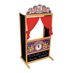 Deluxe Puppet Theater - Designed with a sturdy non-tip base, this puppet theater will be the star of any playdate.