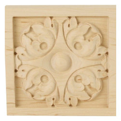 """Ekena Millwork - 5 1/8""""W x 5 1/8""""H x 7/8""""D Large Leaf Rosette, Lindenwood - 5 1/8""""W x 5 1/8""""H x 7/8""""D Large Leaf Rosette, Lindenwood. Our rosettes are the perfect accent pieces to cabinetry, furniture, fireplace mantels, ceilings, and more. Each pattern is carefully crafted after traditional and historical designs. Each piece comes factory primed and ready for your paint. They can install simply with traditional adhesives and finishing nails."""