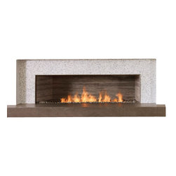 """Spark Modern Fires - Spark Modern Fires Linear Burner System, 96"""", W/ Electric Ignition - An endlessly changeable, designable fire. SPARK's latest leading-edge innovation, the linear burner system is so completely customizable that gas fire becomes the ultimate designer's tool. Create any firescape length—from 24"""" to an incredible 96"""". Choose from multiple fire views—one-sided, two-sided view-through on either an interior or exterior wall, a three-sided peninsula fire, or even a full 360 degree open fire with only a an overhead hood."""