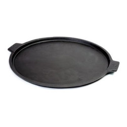 Pizzacraft Cast Iron Pizza Pan - Whether you prefer an oven or an outdoor grill, you'll love the Pizzacraft Cast Iron Pizza Pan. Not only does it make for even baking, but it's easy to carry away from the heat and to your plate. You'll never go back to aluminum pans again! This easy-to-clean cast iron pizza pan measures 14 inches in diameter.About PizzaCraftPizzaCraft believes, correctly, that their name is pretty self-explanatory - they know how to make pizza. And they want you to know, too! This company is dedicated to creating a complete line of pizza stones, peels, tools, and accessories that make gourmet pizza something you make at home instead of overpay for at restaurants. With the right pieces, pizza's a piece of pie!