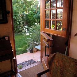 Craftsman Dutch Door Entryway Design Ideas Pictures