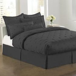 Dkny - DKNY City Silk Standard Pillow Sham in Black - Create a serene and sensuous bedroom experience with this standard pillow sham. It's the perfect way to complement the DKNY City Silk quilt.