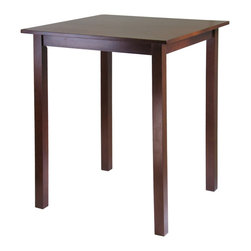 Winsome Wood - Winsome Wood Parkland High/Pub Square Table - High/Pub Square Table belongs to Parkland Collection by Winsome Wood Sometimes simplicity speaks volumes and with the Parkland High Table, it comes on loud and clear. A rich and warm walnut finish lends itself to a cozy invitation to pull up a chair and relax for awhile. The size is ideal for seating up to four discerning individuals and will look fantastic in a kitchen or small dining area Pub Table (1)