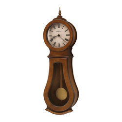 Howard Miller - Howard Miller Chestnut Triple Chime Wall Clock | Cleo Wall - 625500 Cleo Wall