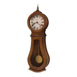 Howard Miller - Howard Miller Chestnut Triple Chime Wall Clock | Cleo Wall - 625500 Cleo Wall