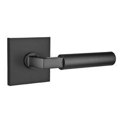 Emtek - Emtek Hercules Door Lever, Flat Black, Privacy - Emtek Hercules Door Lever