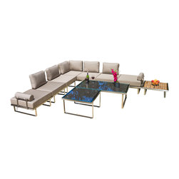 Great Deal Furniture - Alesandro Outdoor 10pc Seating Set - The Alesandro Outdoor Set perfectly exudes a modern feel to any outdoor living space. With its unique and eye-catching design this set offers taste and functionality to your patio. The combination of natural and industrial elements compliments any style of decor and the high quality materials make this set an immediate statement. Just in time for summer gatherings, place this set in your backyard patio or poolside for plenty of seating.