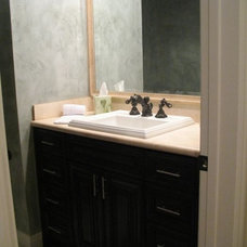 Contemporary Powder Room by Construction Owl