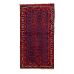 eSaleRugs - 3' 6 x 6' 6 Balouch Persian Rug - SKU: 22148065 - Hand Knotted Balouch rug. Made of 100% Wool. Brand New.